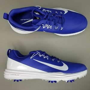 Nike Lunar Command 2 Soft Spike Golf Shoes 11 Blue